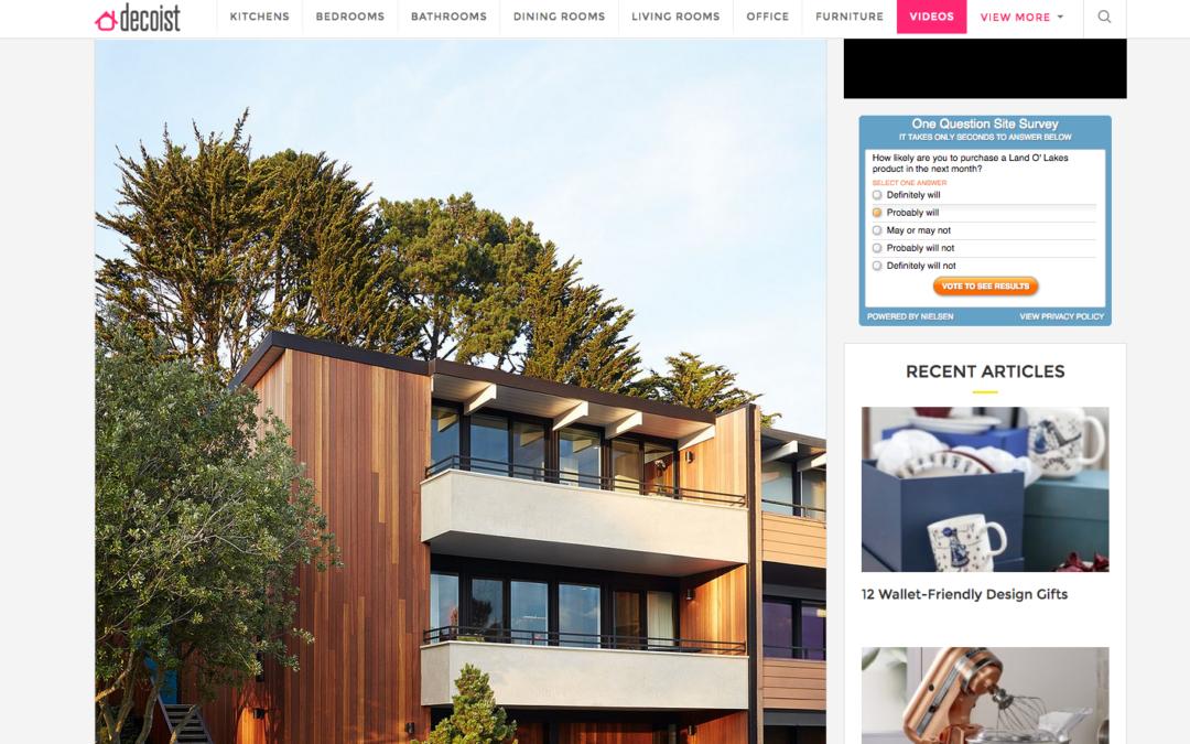 Decoist featured our San Francisco Eichler Remodel