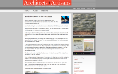 Architects and Artisans featured our Glass Wall House
