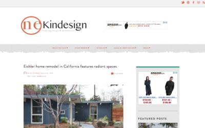 One Kind Design featured our Palo Alto Eichler Remodel