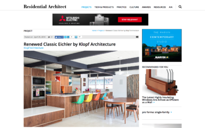 Residential Architect featured our Renewed Classic Eichler