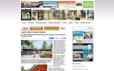 Eichler Network Featured our San Mateo New House