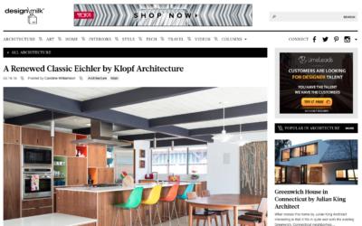 Design Milk featured our Renewed Classic Eichler