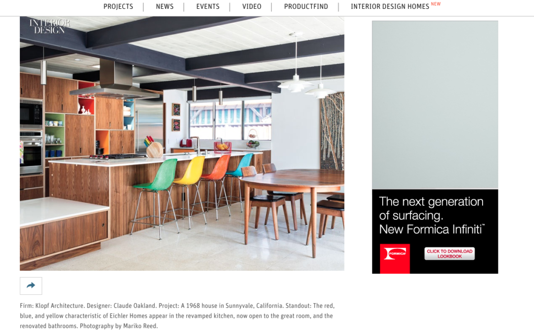 interior design magazine featured our renewed classic eichler