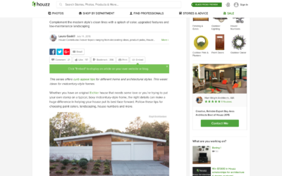 Houzz featured our Truly Open Eichler Remodel