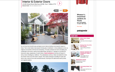 Kelly Home Design Featured our Double Gable Eichler Remodel