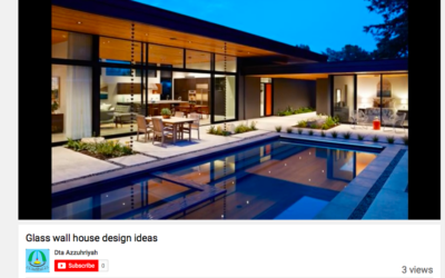 YouTube features our Glass Wall House