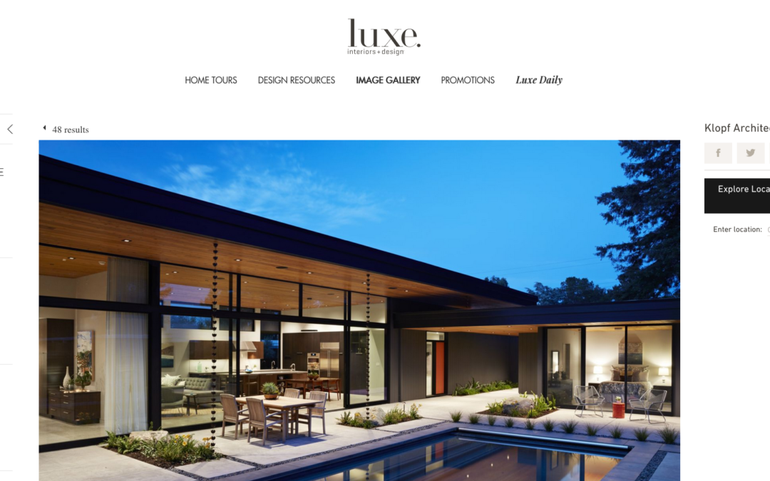 Luxe features our Glass Wall House