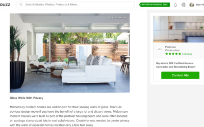 Houzz features our Truly Open Eichler Remodel