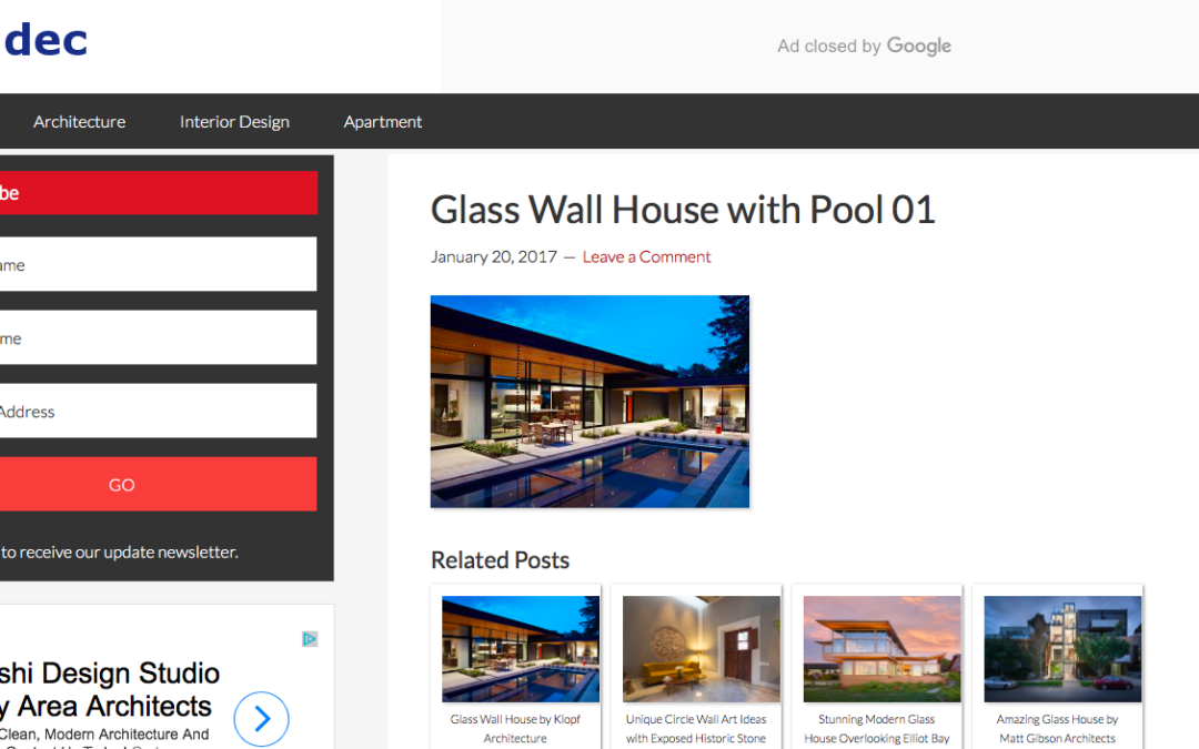 arcidec features our Glass Wall House