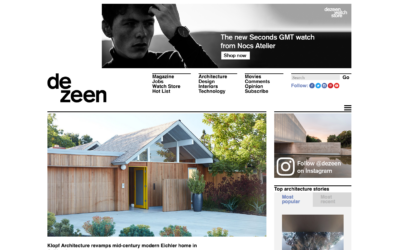 Dezeen features our Mountain View Double Gable Eichler Remodel
