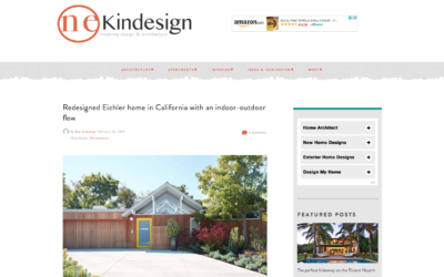 One Kind Design features our Mountain View Double Gable Eichler Remodel