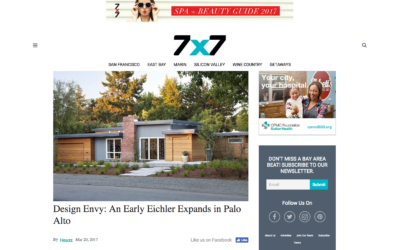 7×7 Magazine features our Early Eichler Expansion