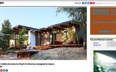 Dezeen features our Sacramento Modern New Residence