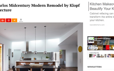Home World Design features our San Carlos Midcentury Modern Remodel