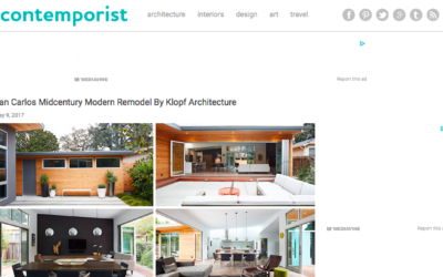 Contemporist features our San Carlos Midcentury Modern Remodel