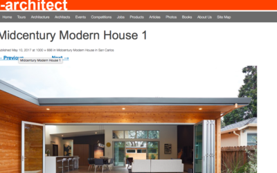 e-architect features our San Carlos Midcentury Modern Remodel
