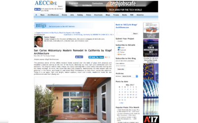 AECCafe features our San Carlos Midcentury Modern Remodel