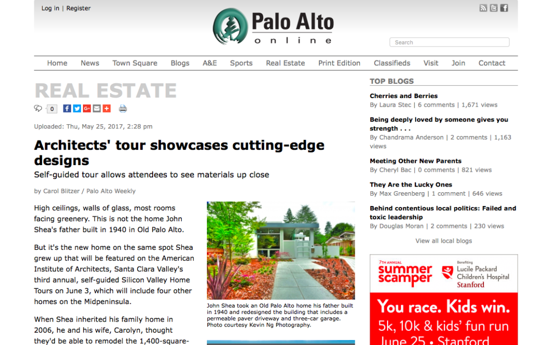 Palo Alto Online features our Mountain View Double Gable Remodel on the AIA Silicon Valley Home Tour