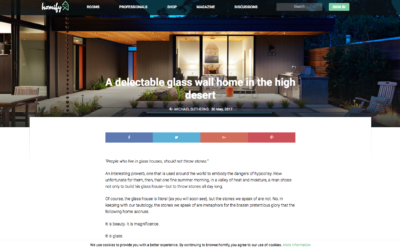 Homify features our Glass Wall House