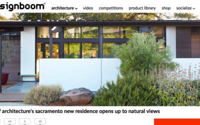 designboom features our New Sacramento House