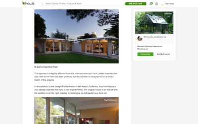Houzz features our Eichler Remodel