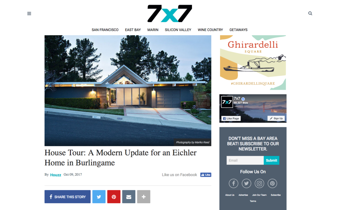 7×7 Magazine features our Double Gable Eichler Remodel