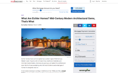 Realtor features our Double Gable Eichler Remodel