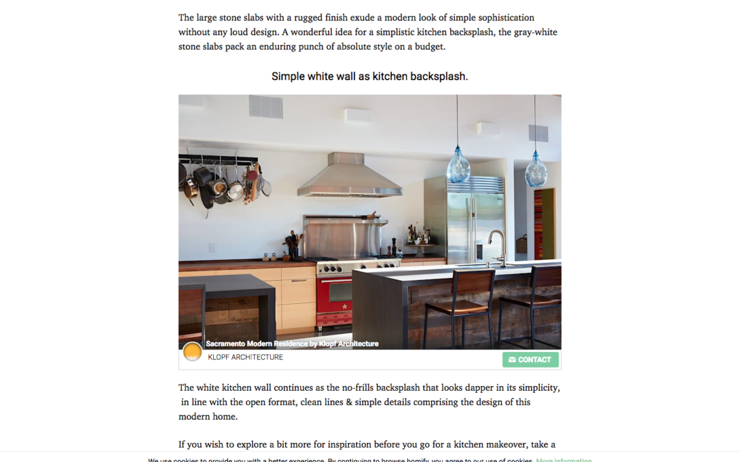 Homify features our Sacramento New House