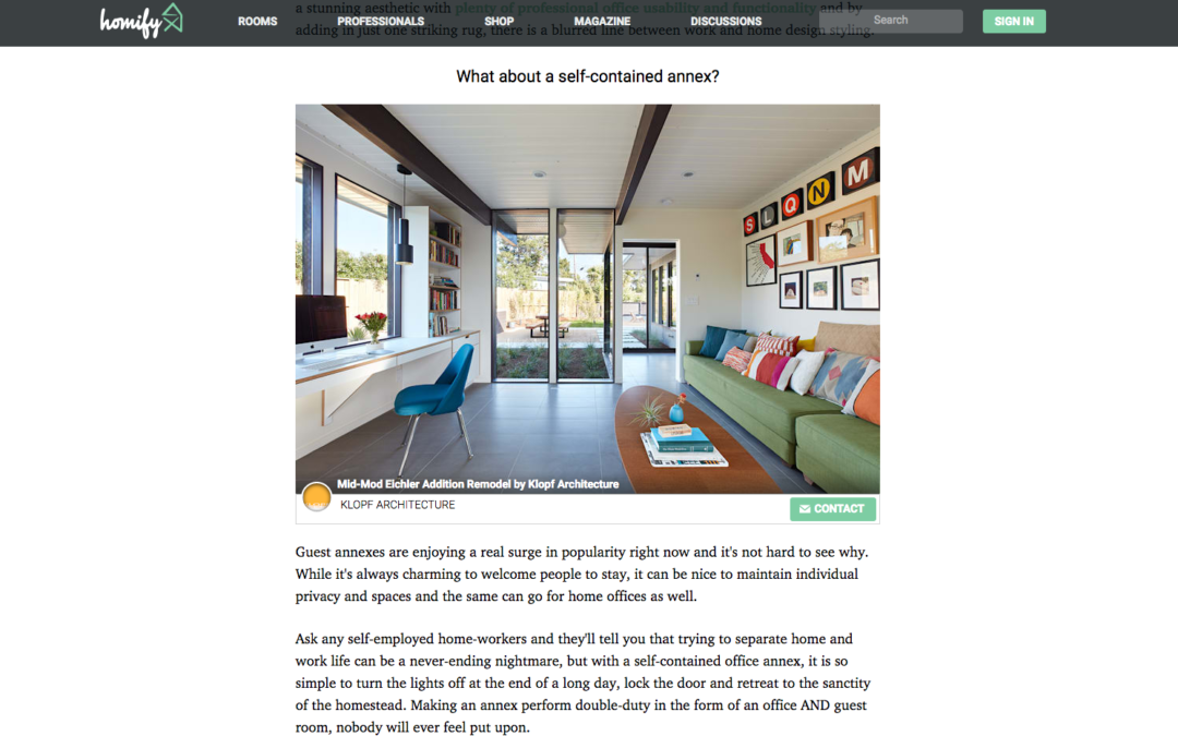 Office Guest Room Ideas That Give You More Bang For Your Us Buck: Homify Features Our Mid-Mod Eichler Remodel Addition