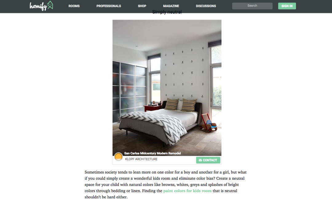 Homify features our San Carlos Mid-Century Modern Remodel