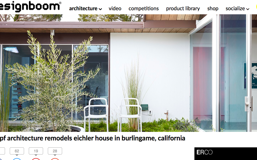 designboom features our Burlingame Eichler Remodel