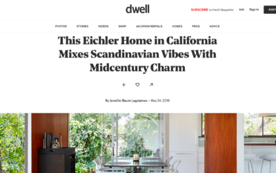 Dwell features our Burlingame Eichler Remodel