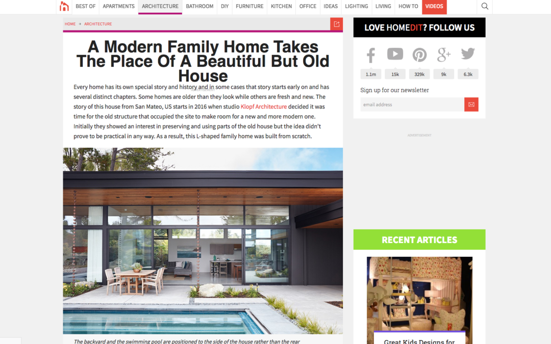 Home Dit features our Glass Wall House