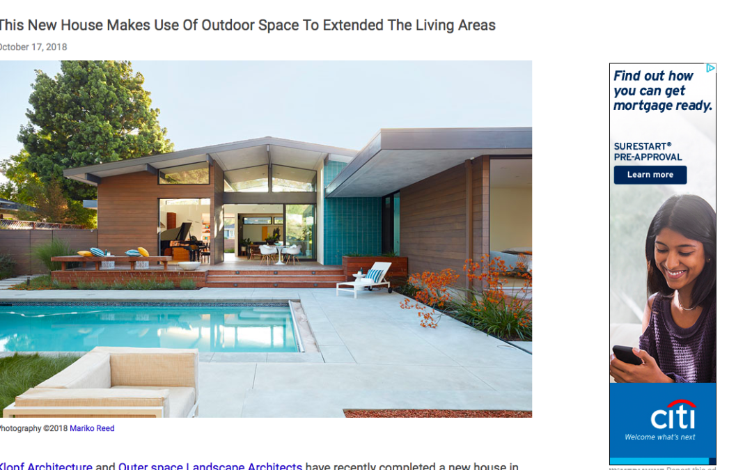 Contemporist features our Los Altos New Residence