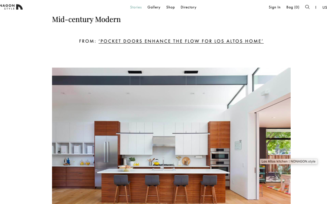 Nonagon Style features our Los Altos New Residence