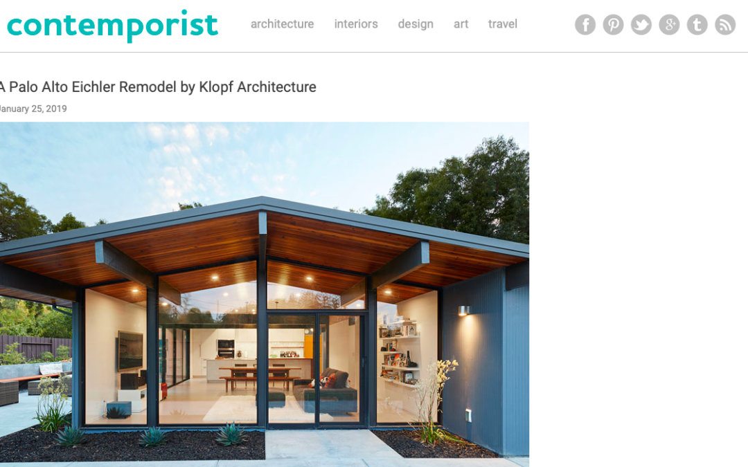Contemporist features our Palo Alto Eichler Remodel