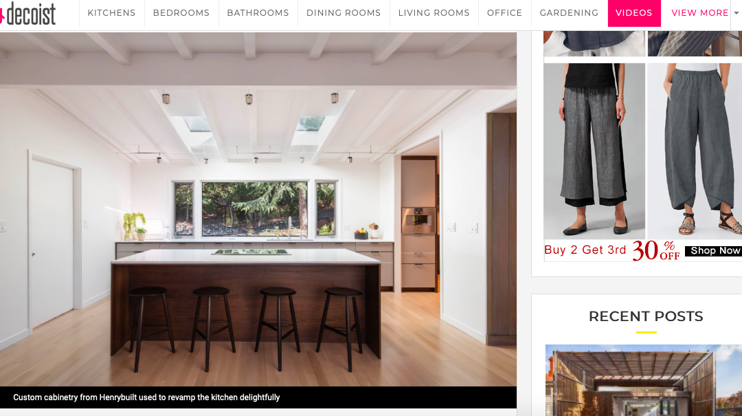 Decoist features our Lafayette Modern Remodel